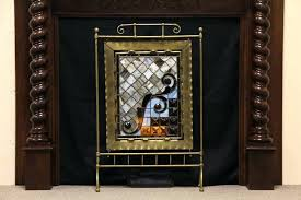 stained glass fireplace screens stained glass fireplace screen gallery stained glass fireplace screen