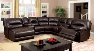 Living Room Furniture Glasgow Furniture Of America Cm6822br Glasgow Transitional Brown Leather