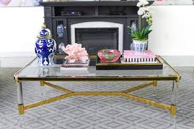Divide your coffee table into two. 5 Chic Glam Coffee Table Decor Ideas Monica Wants It