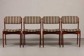 mid century od 49 teak dining chairs by erik buch for oddense and also blue kitchen