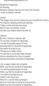 Bluebird Of Happiness Lyrics Music Charts Blue Bird Lyrics