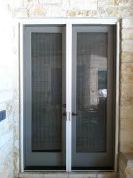 retractable screen doors. French Door Closed Retractable Screen Doors