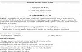 4 restaurant manger resume sample restaurant manager resume template