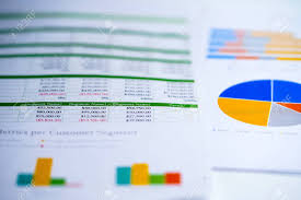 Investment Charts And Graphs Charts Graphs Spreadsheet Paper Financial Development Banking