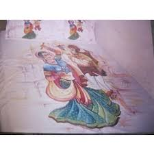 bed sheet designing hand painted bed sheet manufacturers suppliers of haath ki