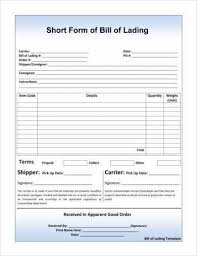 Short Form Bill Of Lading Template 8 Straight Bill Of Lading Examples Pdf Examples