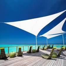 Sky Line Triangle Sail Shade Parasol Large Natural - 19502 ...