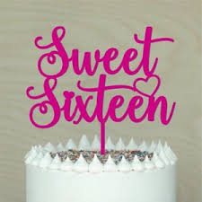 Sweet Sixteen Cake Topper16th Happy Birthdaycake Decorlots Of