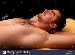 Young hairy men asleep