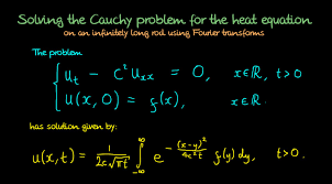 heat equation solution using fourier transforms