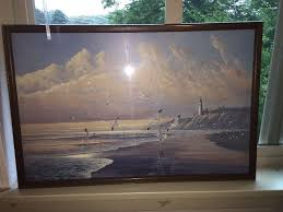 seascape print from sea to shining sea by august holland asma wood frame nos