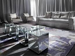 Mirrored Trunk Coffee Table Round Mirrored Coffee Table
