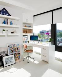 white airy home office. what were the main objectives and goals you set out to accomplish for your clients was there a space that most important them white airy home office o