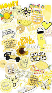 vsco #wallpaper #yellow #cute ...