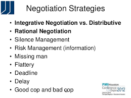 Negotiation Strategies For Project Managers