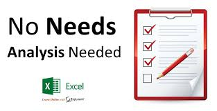 Staff Can Do Their Own Microsoft Excel Needs Analysis? - Ezylearn ...