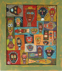 talking heads large framed oil painting on wood 43 1 2 w x 42 1 2 h x 1 d 2 395 00