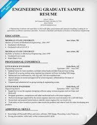 Engineering Graduate Resume Sample Resumecompanion Com Resume