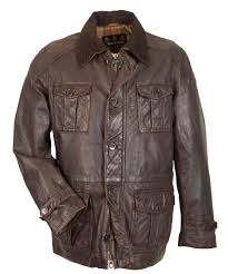 mens barbour load leather jacket barbour leather brown