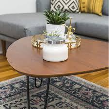 glass metal coffee table