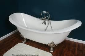 Bathroom Design: Appealing Cast Iron Bathtub With Brick Wall For ...
