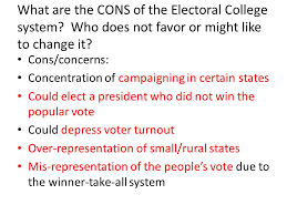 electoral college pros and cons essay electoral college pros and electoral college pros and cons essay