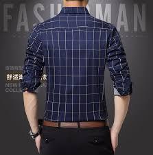 Bahan baju ini juga lembut di kulit. Kemeja Lengan Panjang Pria Slim Fit Motif Kotak Kotak Size Xl Dark Blue Jakartanotebook Com
