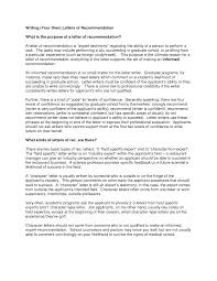Samples Of Letters Of Recommendation For Graduate School Letter