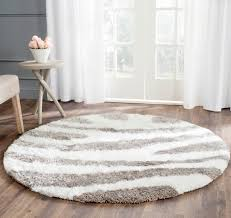 white shag rug living room. 5\u0027 X Round White Shag Rug Living Room #