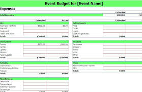 Event Budget Sample Event Budget Template Convention Meeting Ustam Co