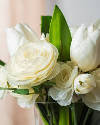 White Tulip and Ranunculus Arrangement White Tulip and Ranunculus  Arrangement ...