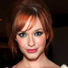 christina hendricks pink lips