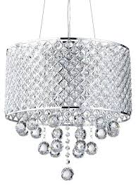 diy drum shade over chandelier 4 light crystal orb contemporary home design
