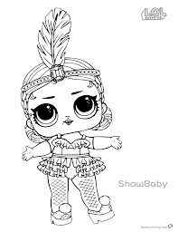 Lol Surprise Doll Coloring Pages Showbaby Free Printable Coloring