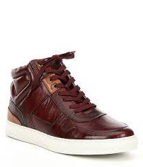 steve madden mens sharper leather hi top leather sneaker