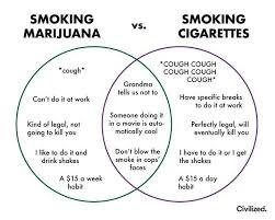 Cigarettes Vs Weed Chart Pin On Weed