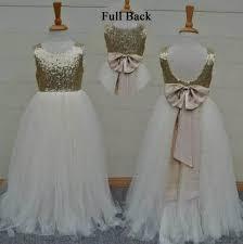 Real Sample <b>High Quality Flower Girls</b> Dresses Sparkly Gold ...