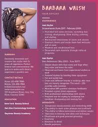 Hair Stylist Resume Examples Hair Stylist Resume Example