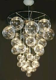 decoration chandelier astounding bubble light marvellous for contemporary glass decorating fixture bathroom