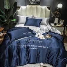 satin silk bedding set luxury