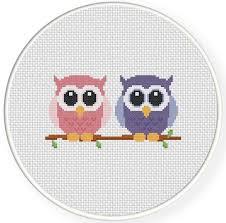 Owl Cross Stitch Pattern New Cute Owls Cross Stitch Pattern Daily Cross Stitch