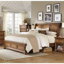 Aspenhome Alder Creek Sleigh Bedroom Set in Butterscotch Bedroom