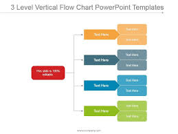 Powerpoint Chart Templates 3 Level Vertical Flow Chart Powerpoint Templates
