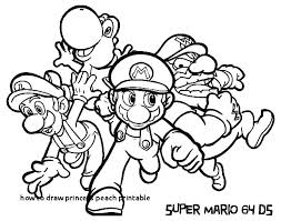 Easy To Draw Coloring Pages So Cute Mini Notebook How Princess Peach