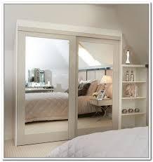25 best closet door ideas that won the internet stylish design wood framed mirrored closet doors