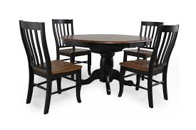 Five Piece Traditional Round Extension 42 to 57 Dining Set in