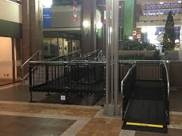 amramp alberta installed a temporary barrier free access ramp in the canada place building in