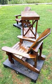 pallet adirondack chair plans. Adirondack Chair Table Diy Pallet And Set Double With Plans T