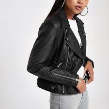 women petite black faux leather biker jacket faux leather fabric biker collar 712887 uijlthh