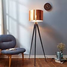 industrial contemporary lighting. Image Is Loading Industrial-Tripod-Floor-Lamp-Modern-Copper-Shade- Contemporary- Industrial Contemporary Lighting